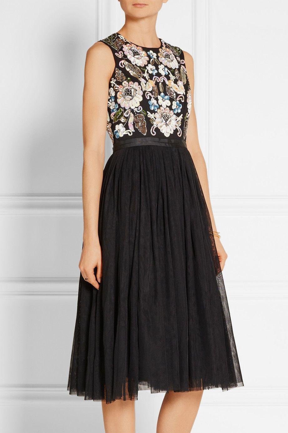 6468a3e64 8 vestidos de tul para sentirte una princesa (moderna). Vestido Tul Negro  Needle Thread