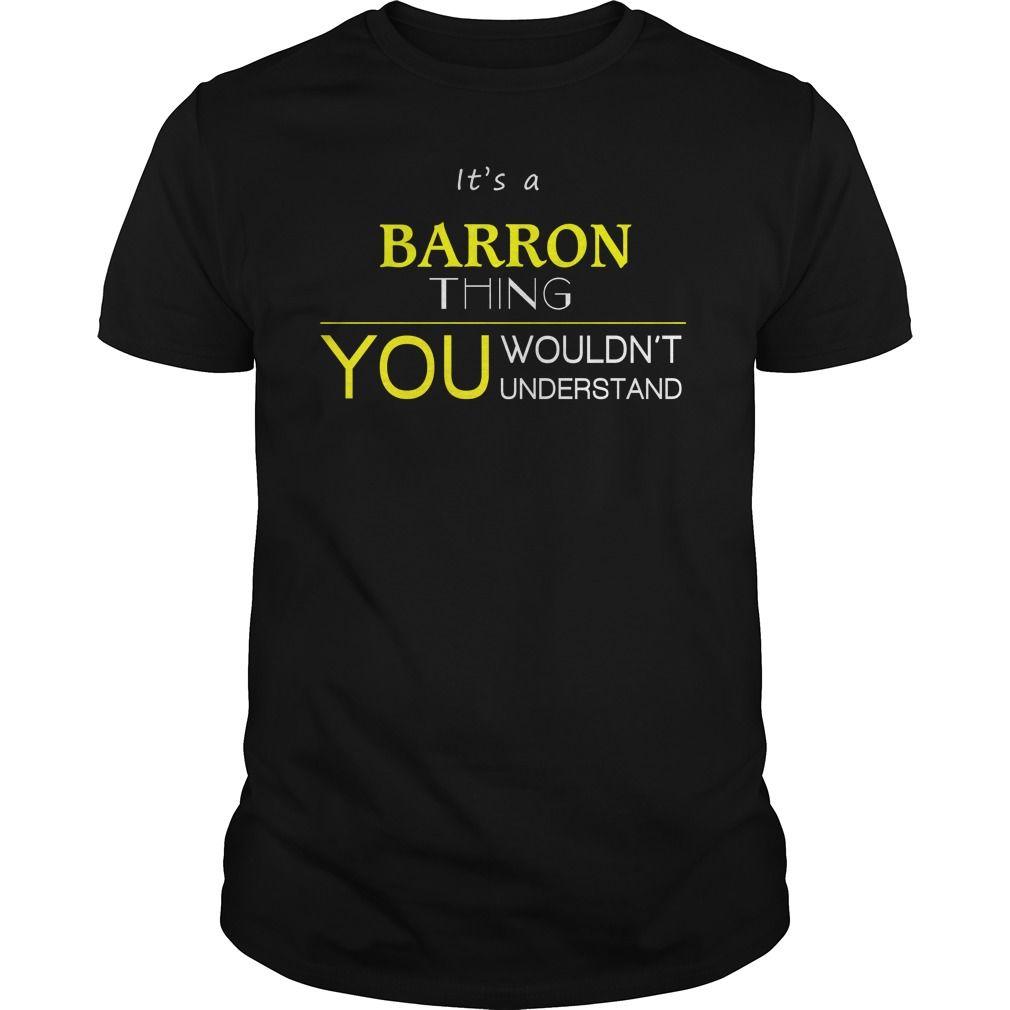 BARRON T Shirts, Hoodies. Check price ==► https://www.sunfrog.com/LifeStyle/BARRON-93898747-Black-Guys.html?41382 $19