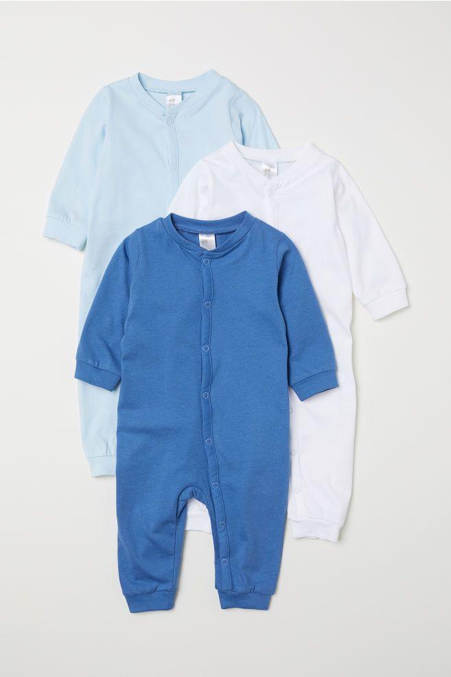 9f6a34290d Pack 3 pijamas de algodón - Azul - NIÑOS