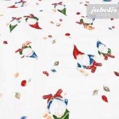 jubelis® Wachstuch als Rolle oder Tischdecke mit Zwergen und Wichteln für Kinderparty und Garten