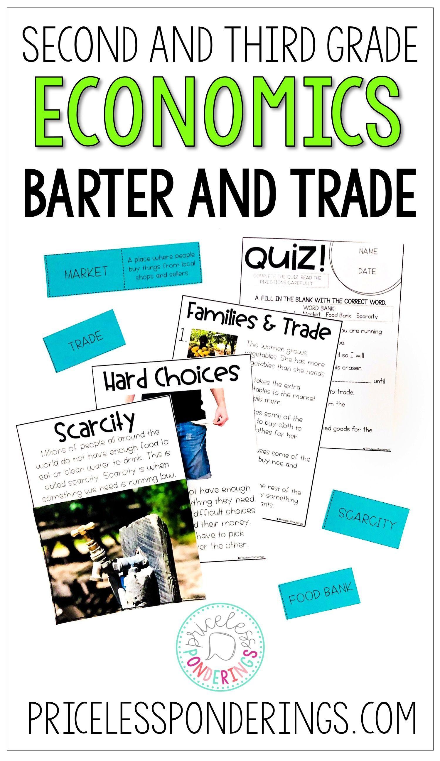 Economics Barter and Trade Activities   Economics lessons [ 2595 x 1499 Pixel ]