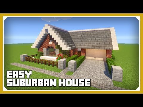 Minecraft How To Build A Small Suburban House Tutorial Easy - Minecraft grobe hauser download
