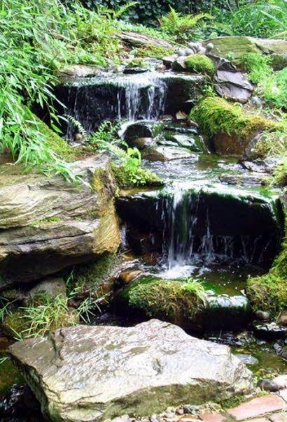 Pondless waterfalls in Annapolis backyard PISCINAS- ESTANQUES Y - fuentes de cascada