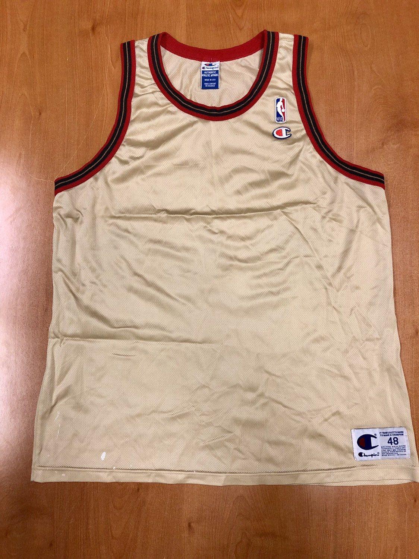 54401fb57 Vintage 1998 Philadelphia 76ers Blank Champion Gold Jersey Size 48 michael  jordan charles barkley dikembe mutombo hat shirt nba finals by  BroadwayVintageLLC ...