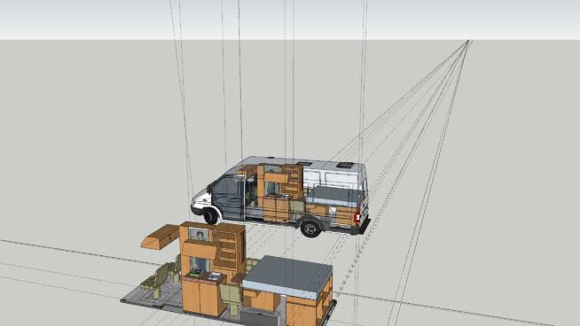 sprinter 3D Warehouse SketchUp 3D model of a Mercedes