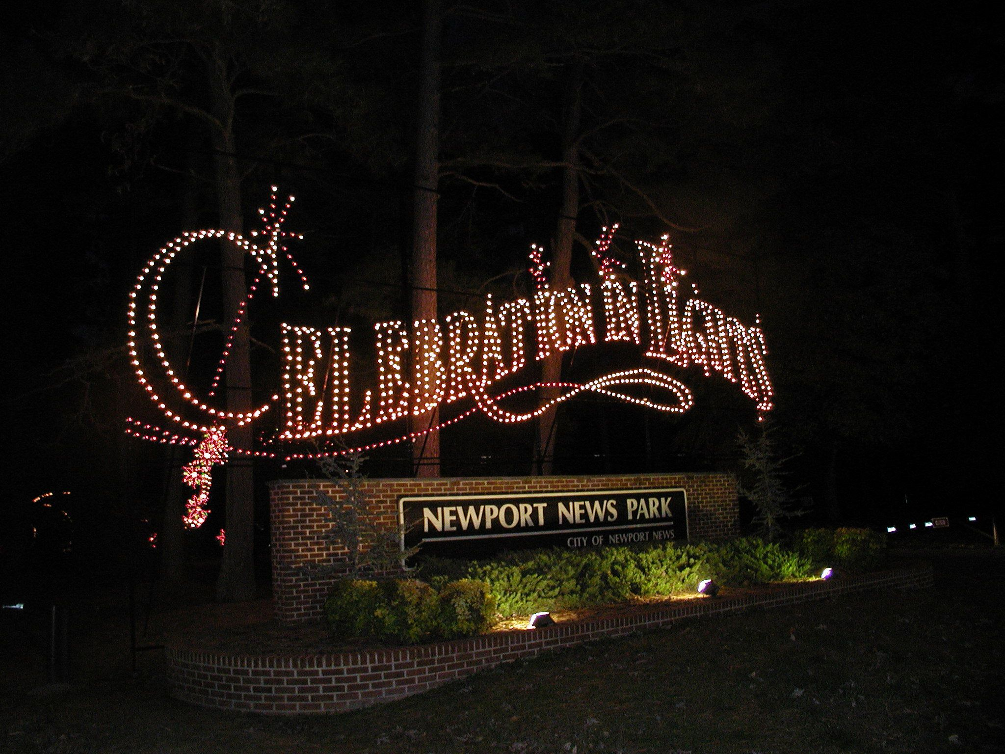 Celebration in Lights at Newport News Park, Virginia's