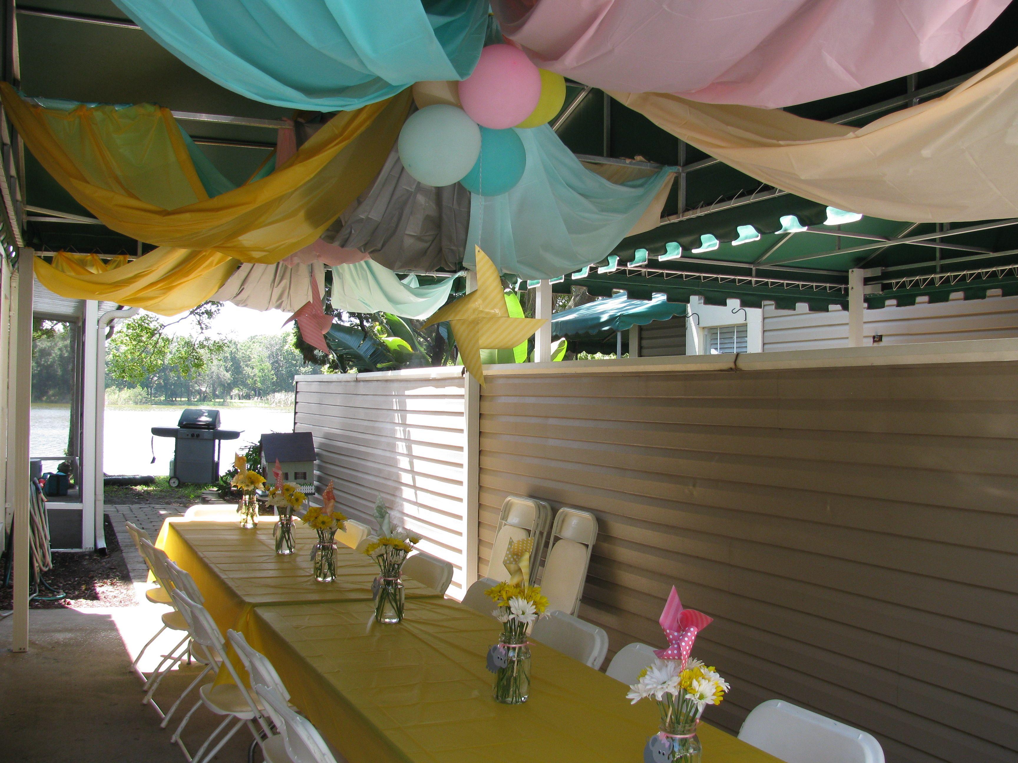 Elephant Pinwheels First Birthday Party