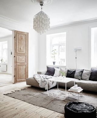 How To Get The Scandinavian Aesthetic In Your Living Room Simply Grove Apartment Interior Living Room Scandinavian Scandinavian Design Living Room