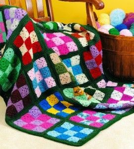 Nine Patch Afghan Crocheting Crafts Crafts For The