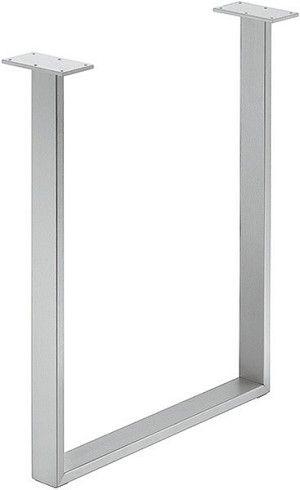2 3 8 X 3 4 Hafele 638 29 200 U Leg Silver Steel Table