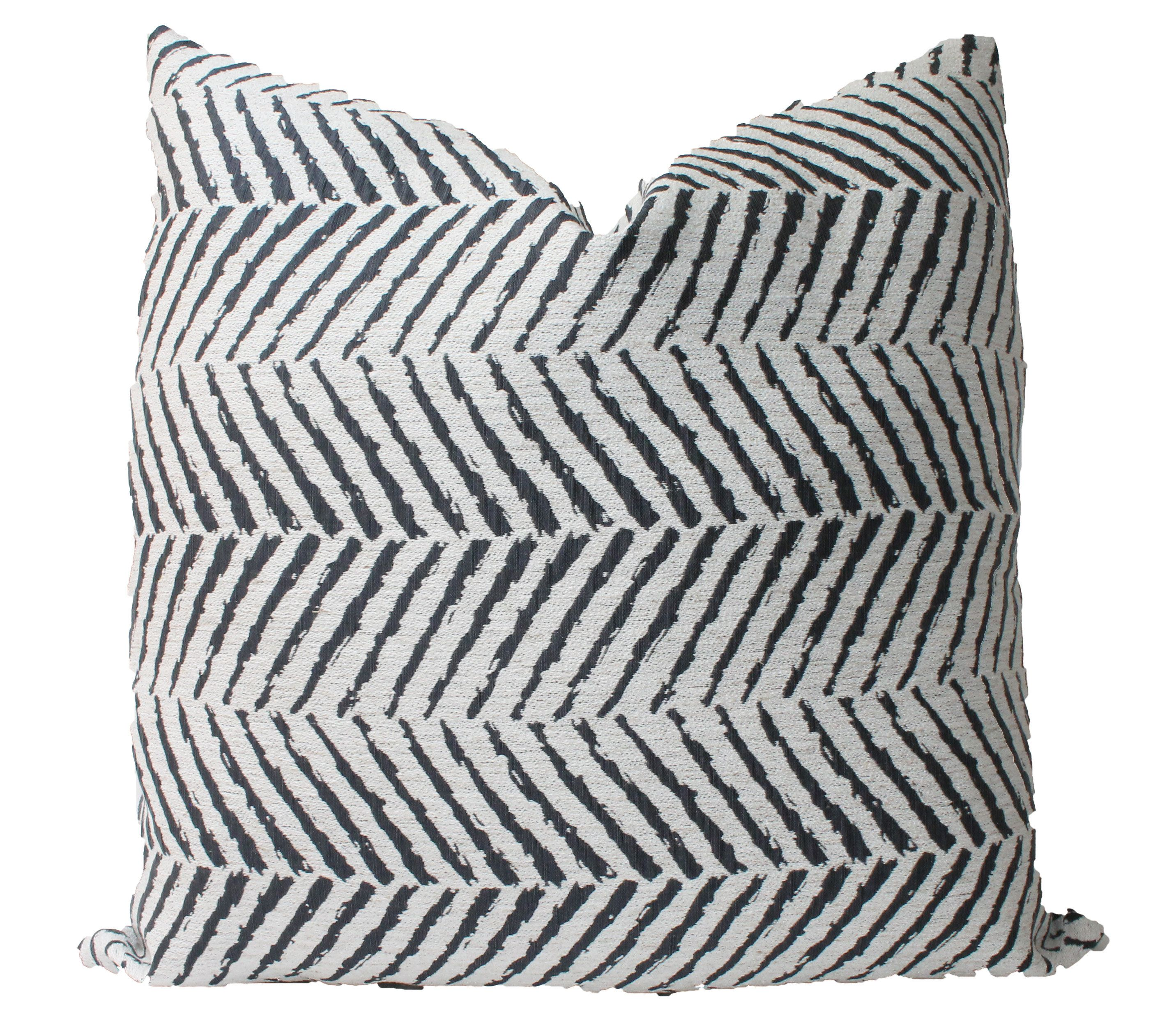 Chevron Pattern, Decorative Grey Pillow