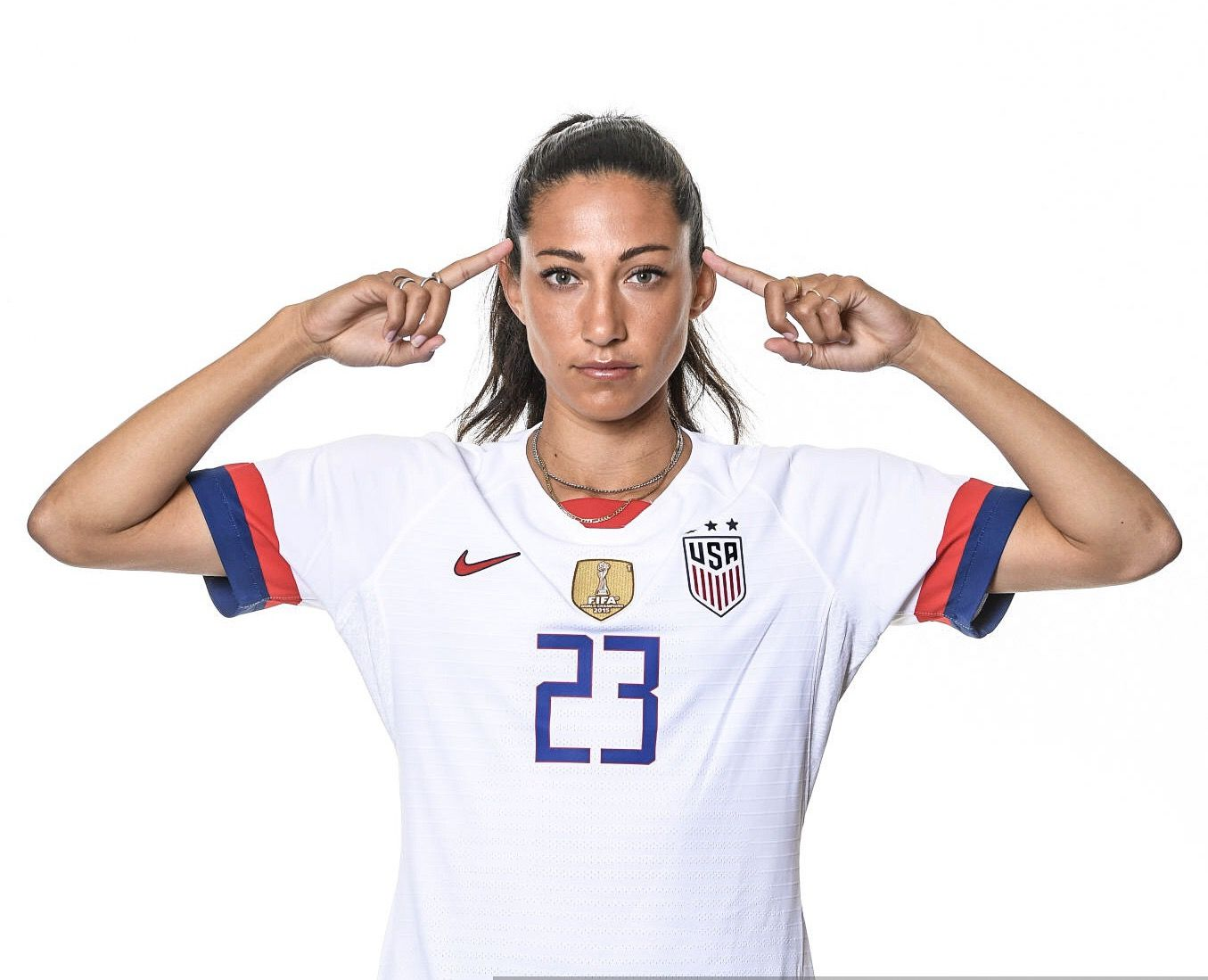 Christen Press 23 Uswnt Official Fifa Women S World Cup 2019 Portrait Uswnt Uswnt Soccer Fifa Women S World Cup