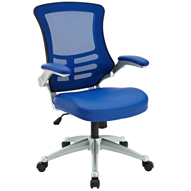 Attainment Office Chair In Blue Lexmod Office Chair Modern Office Chair Home Office Furniture