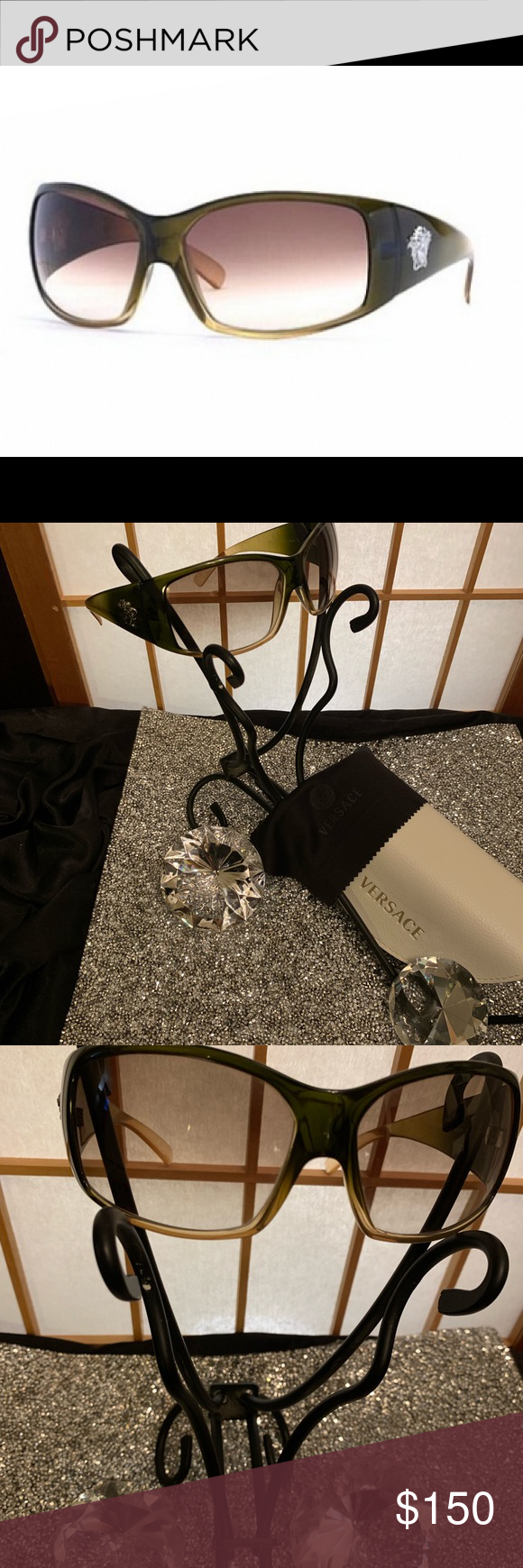 VERACE MADUSA HEAD SUNGLASSES Wunderschöne Versace Design-Sonnenbrille Madusa Head Br …