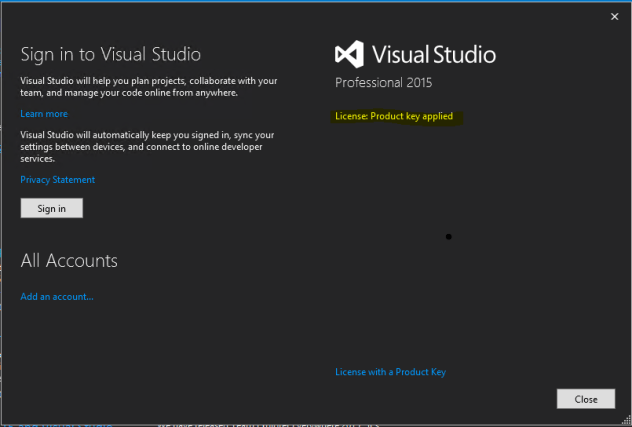 early planning phase of Visual Studio 2019 and Visual Studio for Mac.