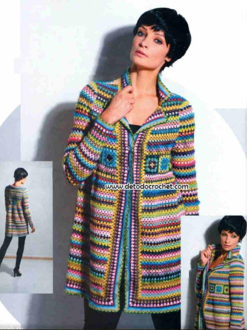 Paso Un A Gramy Crochet Punto Saco Tejer Como 87qxRvOw