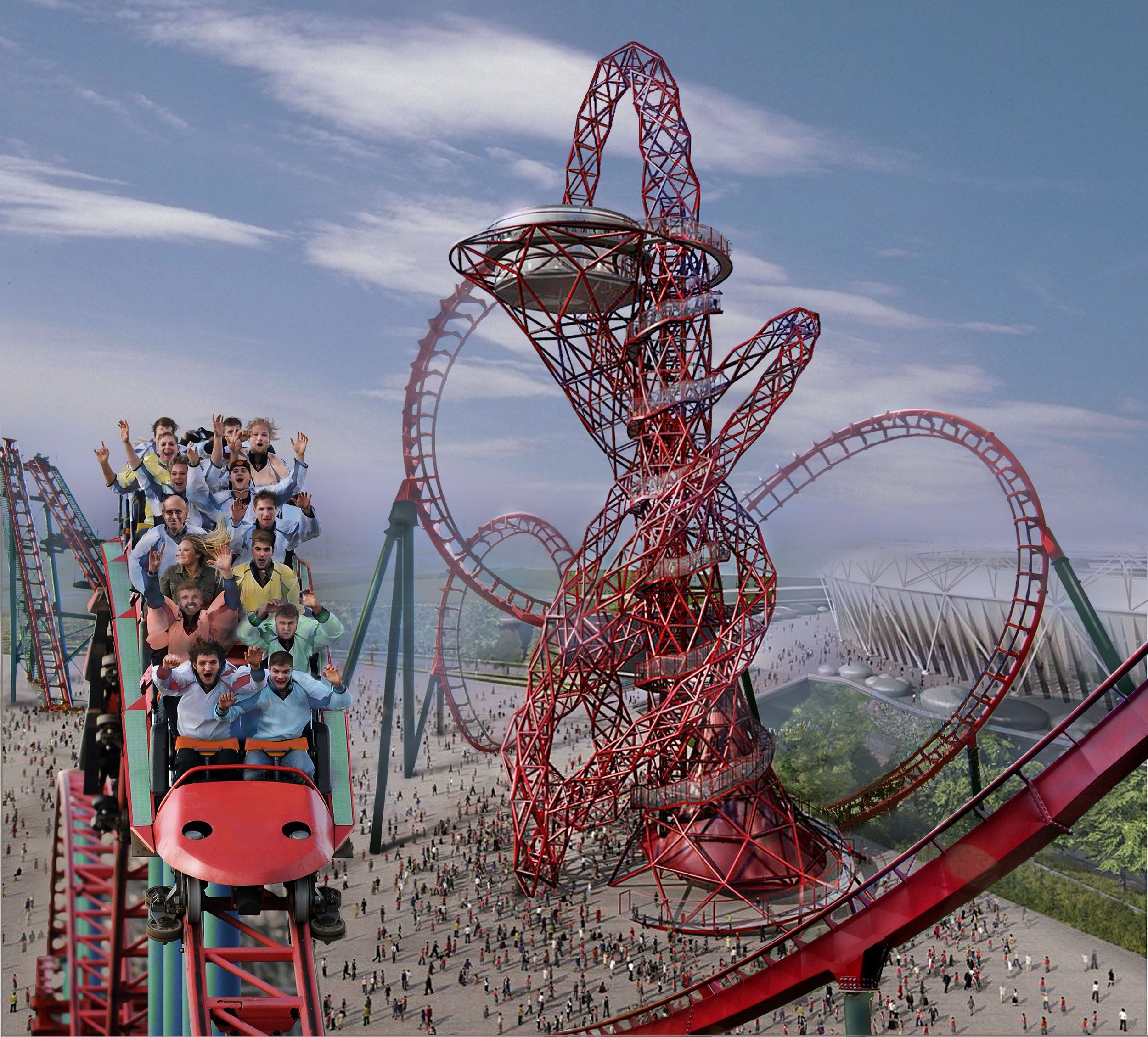 1000 Images About Cool Rides On Pinterest: The ArcelorMittal Sculpture In London Has An Abstract