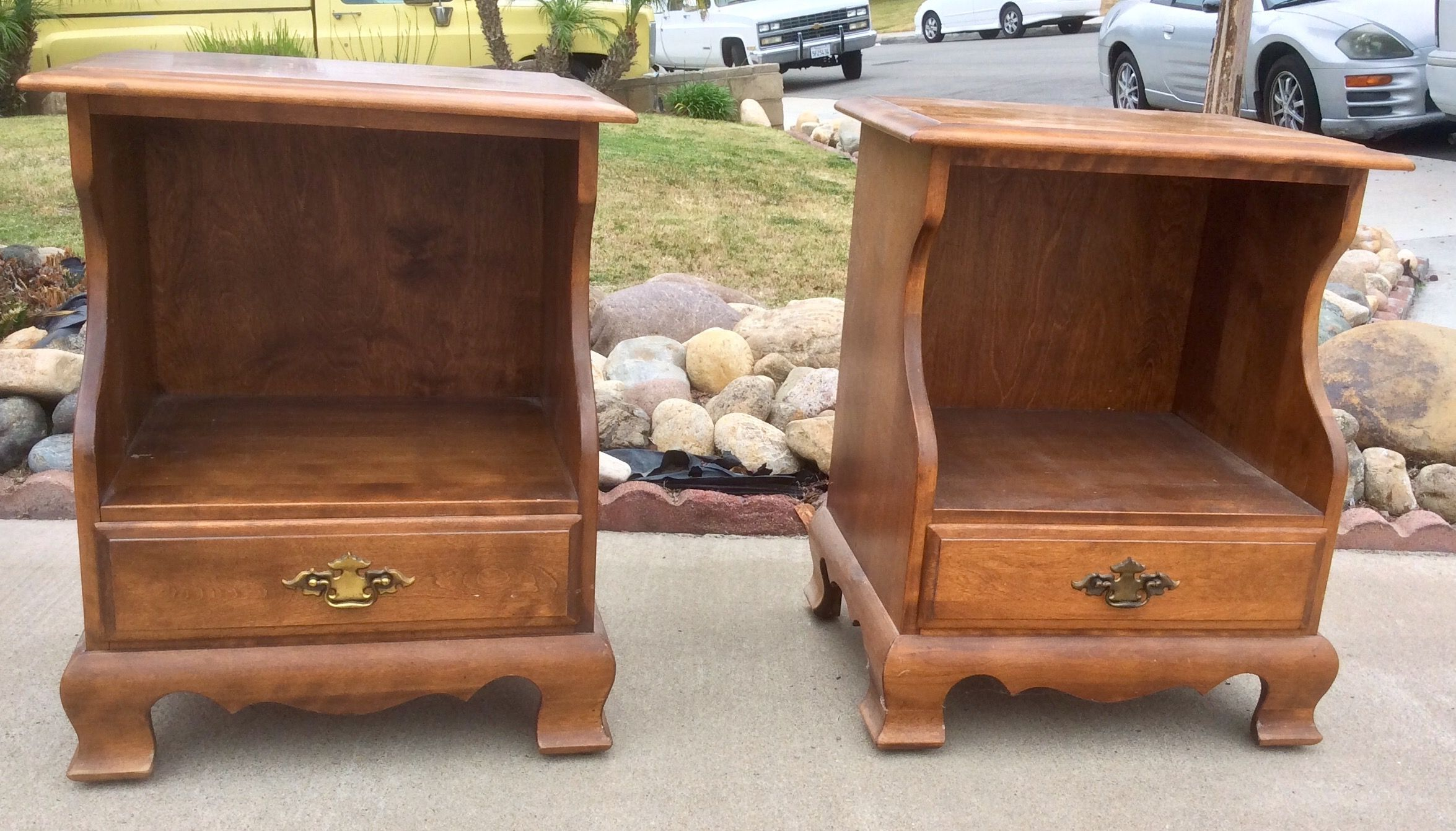 early american nightstands by sumter cabinet co 1960s vintage