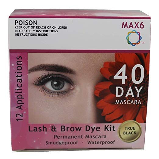 MAX6 Eyelash & Brow Dye/Tint Kit Permanent Mascara (Black ...