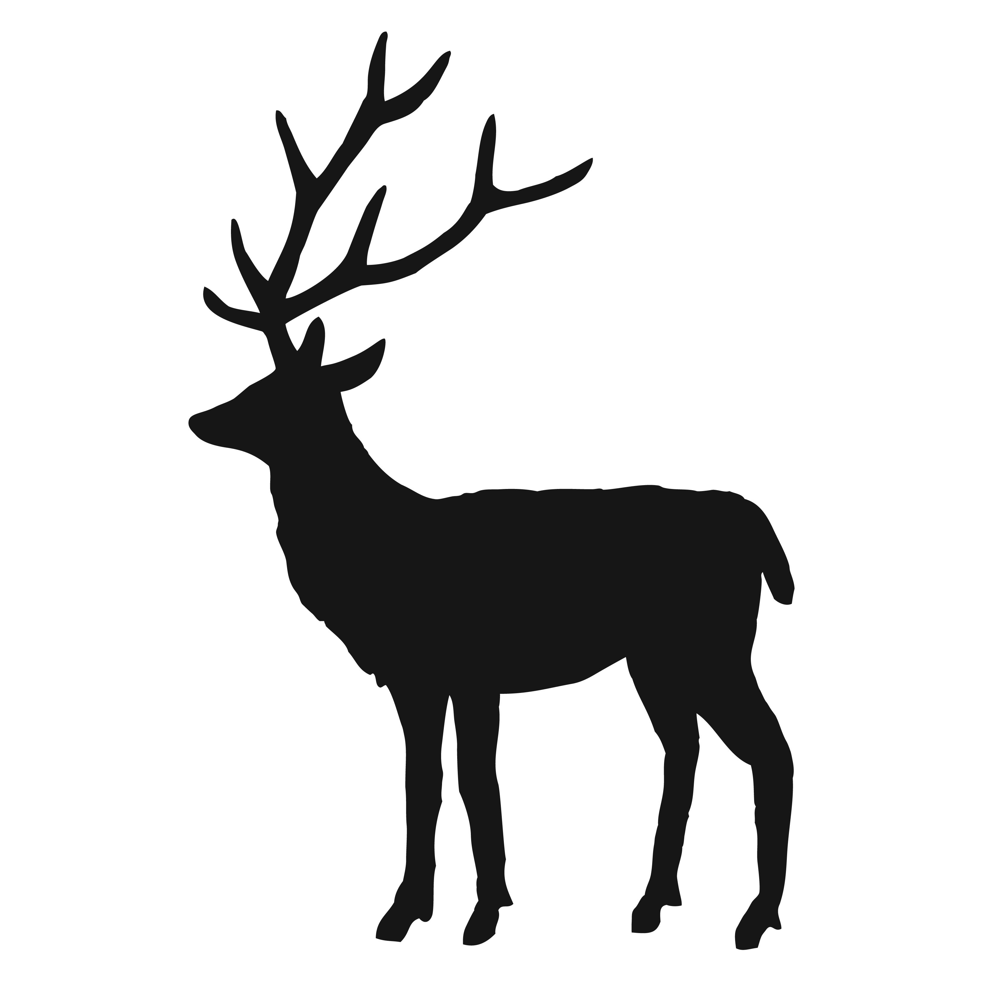 Christmas Decoration, Deer Wall, Google Search, Deer Silhouettes, Wall ...