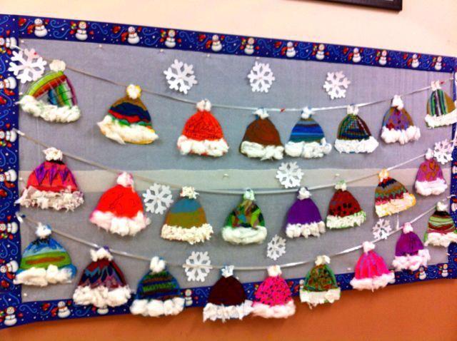 Winter Hats Bulletin Board Idea January Crafts Art Projects Preschool