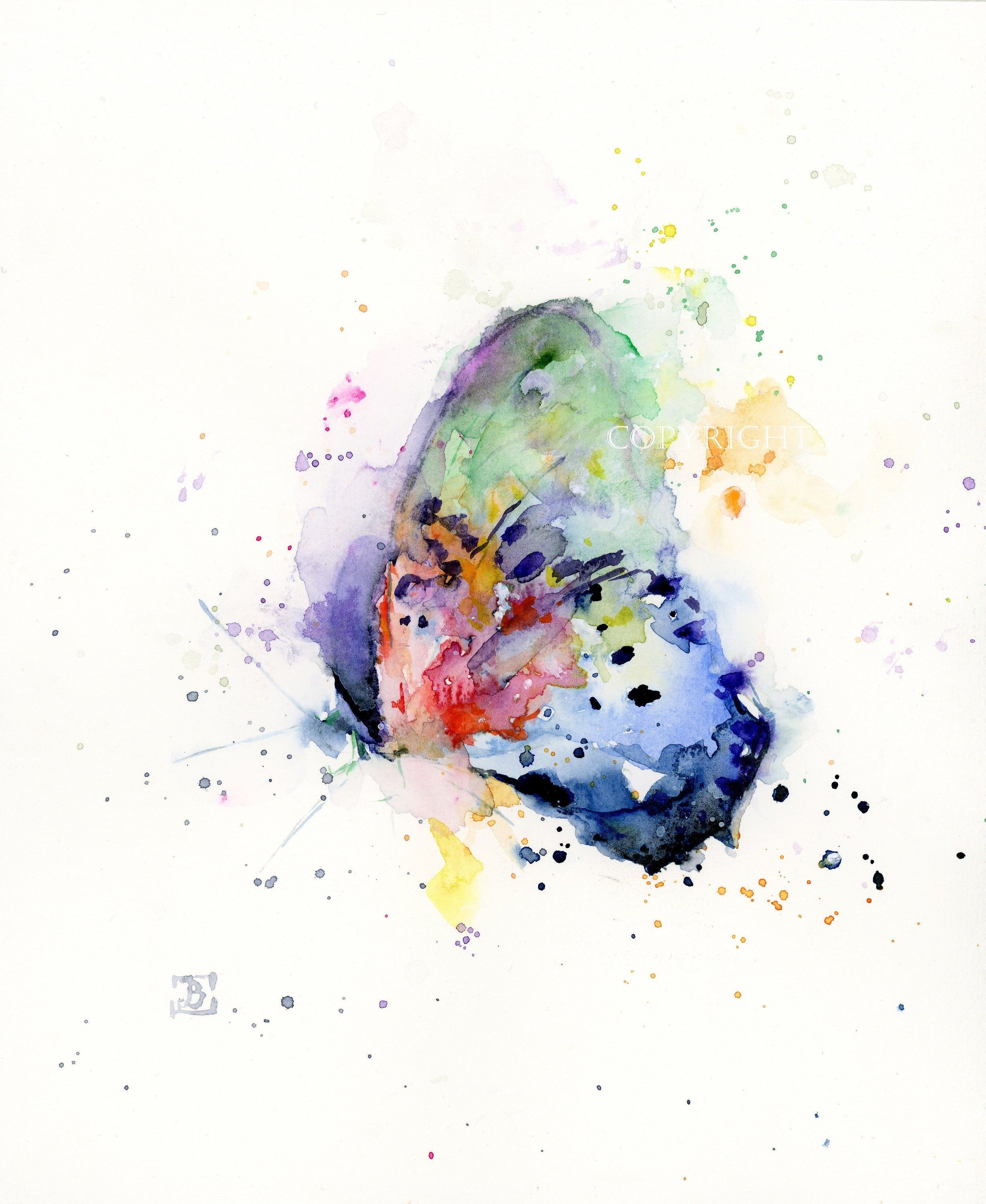 Butterfly Original Watercolor Painting Butterfly Watercolor