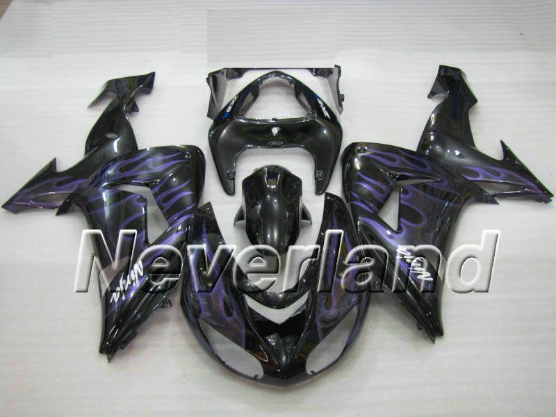 Kawasaki ninja zx10r 20062007 abs verkleidung lila