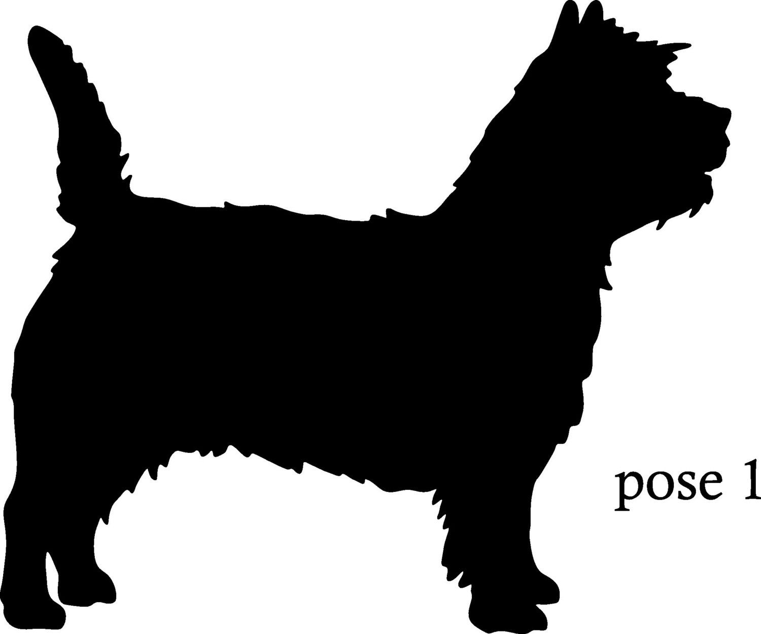 6 Inch Cairn Terrier Vinyl Dog Silhouette Decal 5 95 Via Etsy