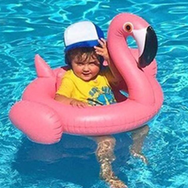 Toys & Hobbies Baby & Kids' Floats Inflatable Baby Swim Flamingo Circle Air Mattress Swim Swan Pool Summer Water Fun Pool Toy Kids Swimming