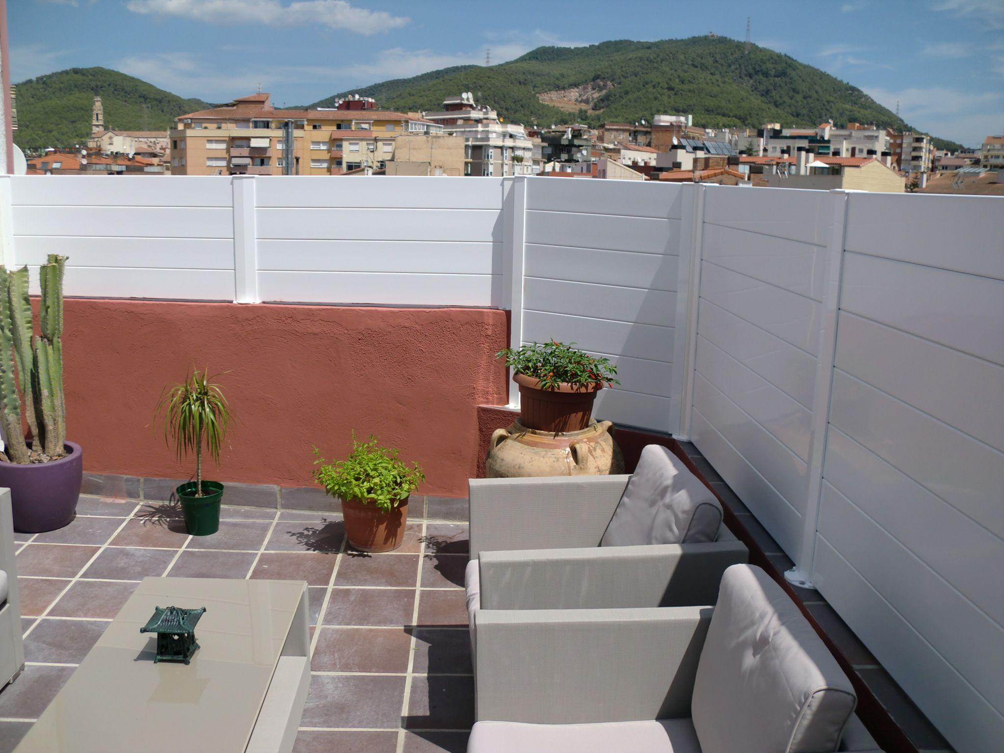 Cerrar terraza atico interesting celosias de madera with - Cerrar la terraza ...