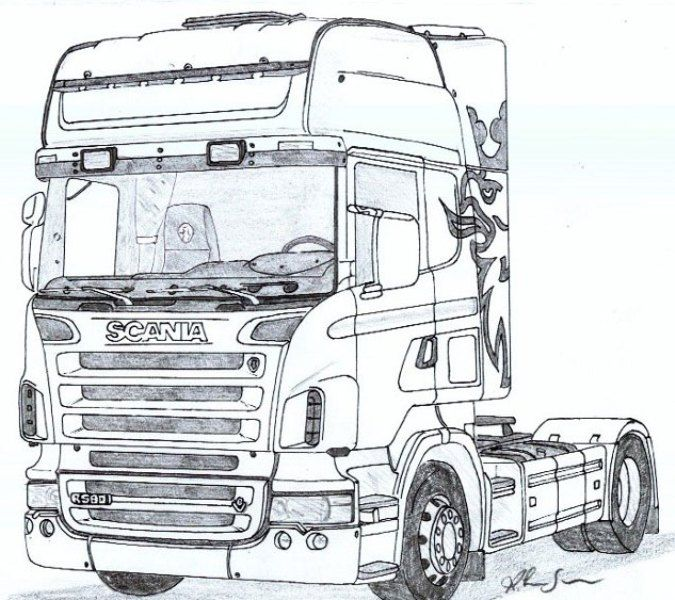 Scania Kleurplaat