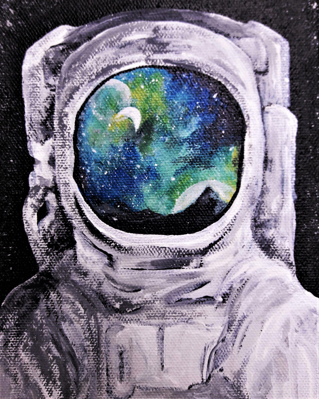 Galaxy Astronaut Acrylic Art Print