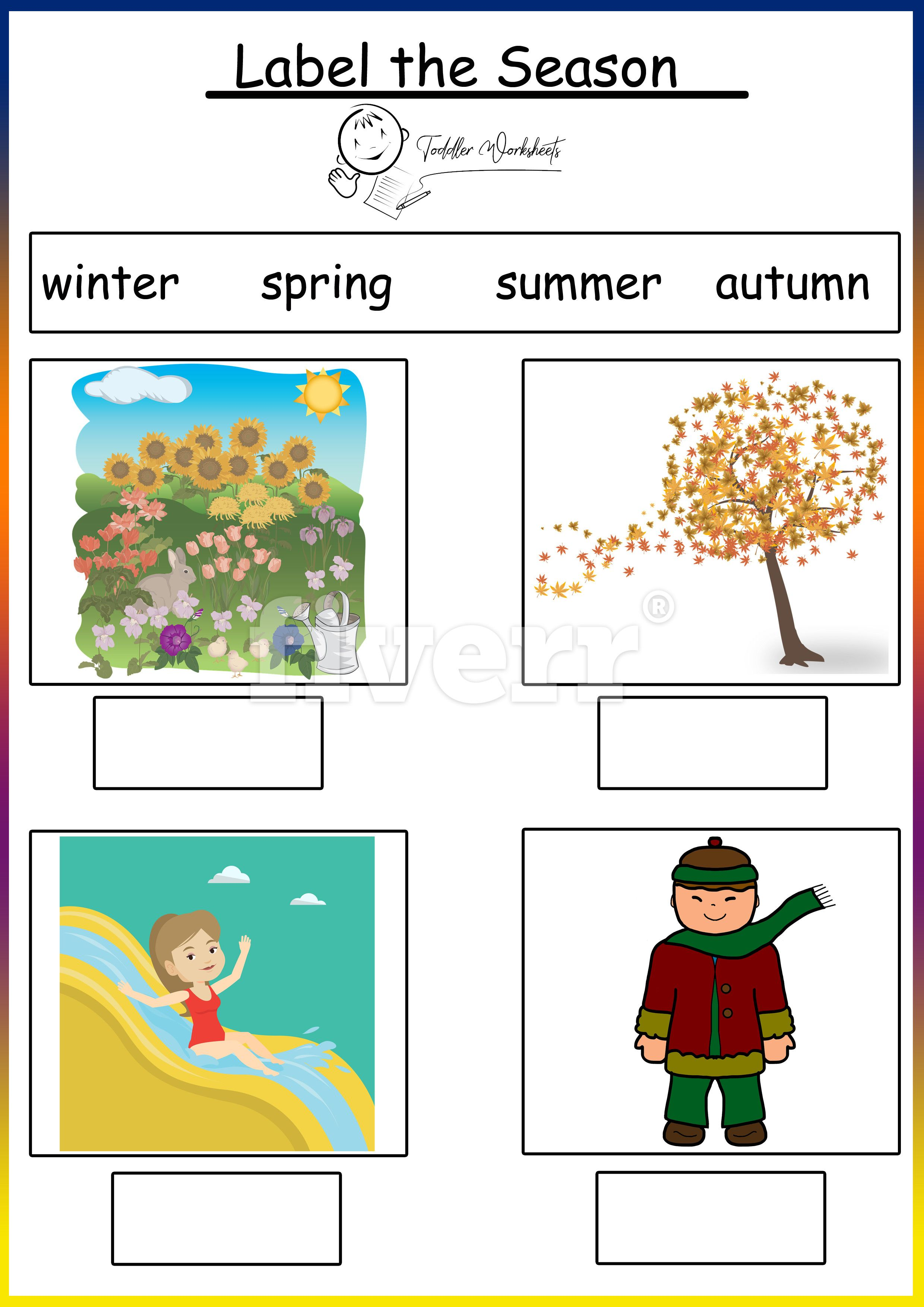 preschool free worksheets seasons   Seasons worksheets [ 3508 x 2480 Pixel ]