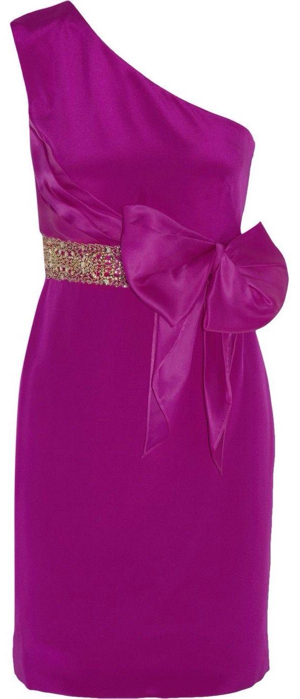 Notte by Marchesa Embellished Silk Dress