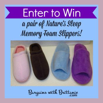 Nature's Sleep Memory Foam Slippers #Review & Giveaway!