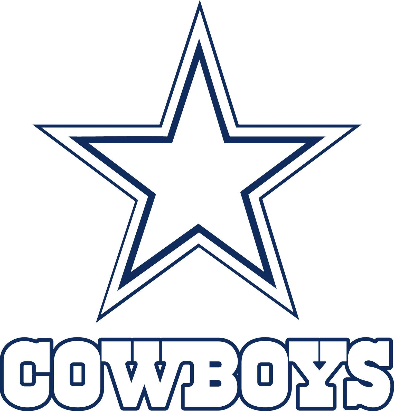 Dallas Cowboys Logo Drawings DALLAS COWBOYS Star Lo