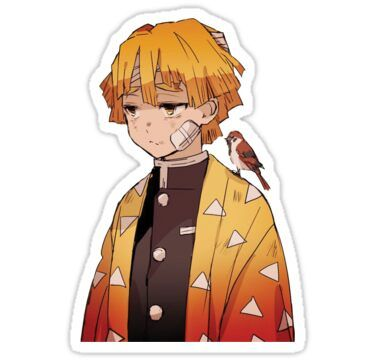 Zenitsu Agatsuma Sticker in 2020 Cute stickers, Anime