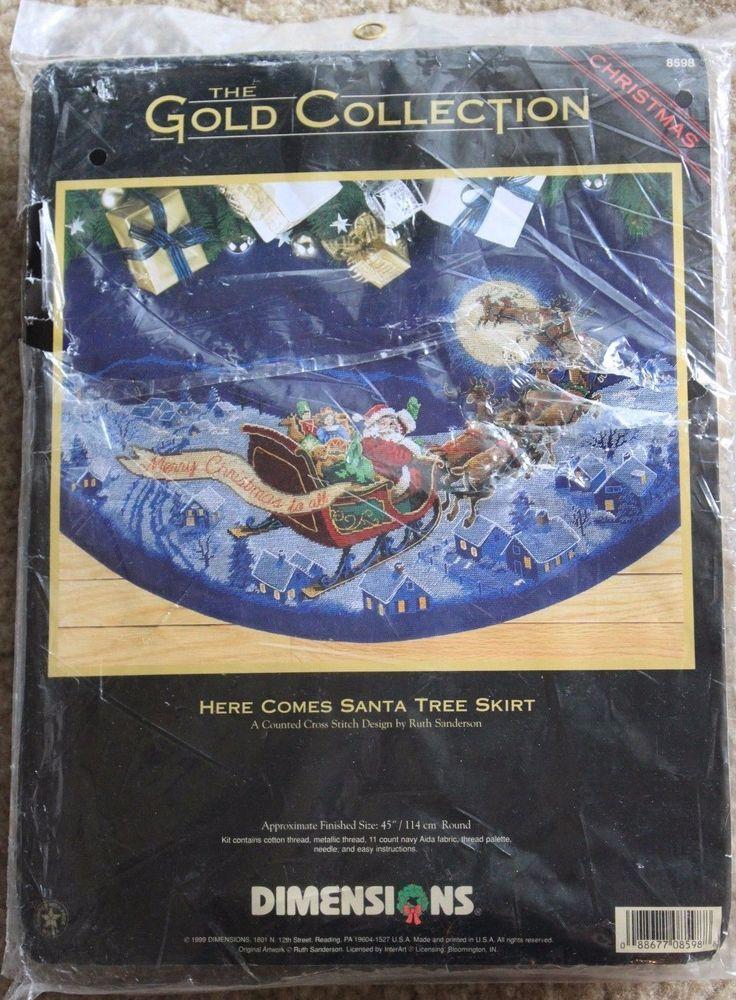 Counted Cross Stitch Christmas Tree Skirt Kits