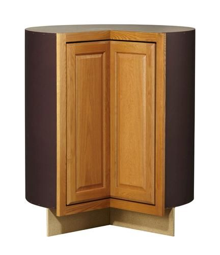 Huron Oak Easy Reach Corner Base 36 Cabinet At Menards Stock Cabinets Corner Base Cabinet Lazy Susan