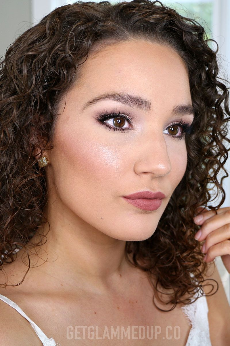 Drugstore bridal face makeup and lip tutorial. Watch the
