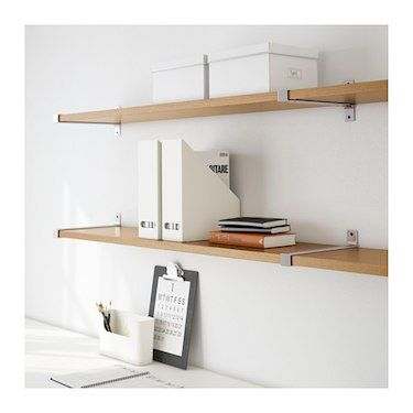 IKEA EKBY BJÄRNUM/EKBY JÄRPEN wall shelf Partitioning wall inside keeps shelves in place.