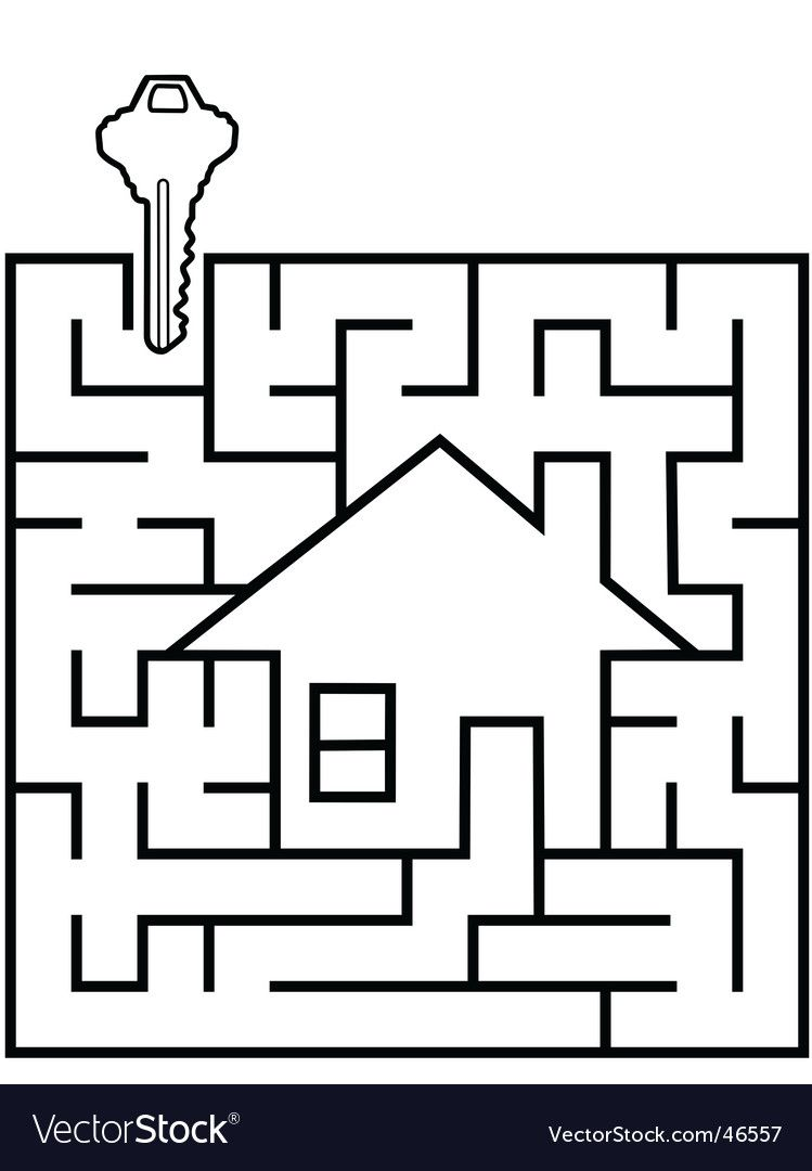 Real estate maze Royalty Free Vector Image  VectorStock