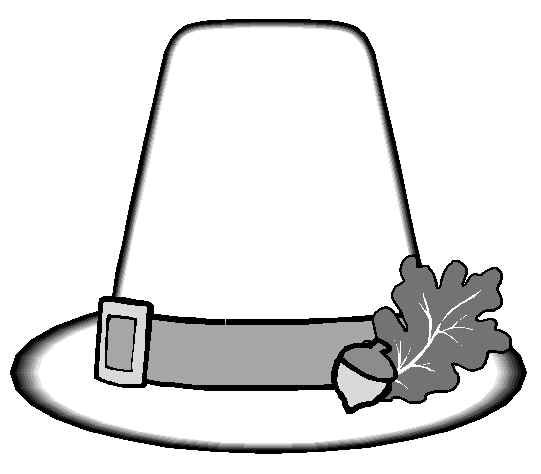 Thanksgiving Coloring Page Pilgrims Hat