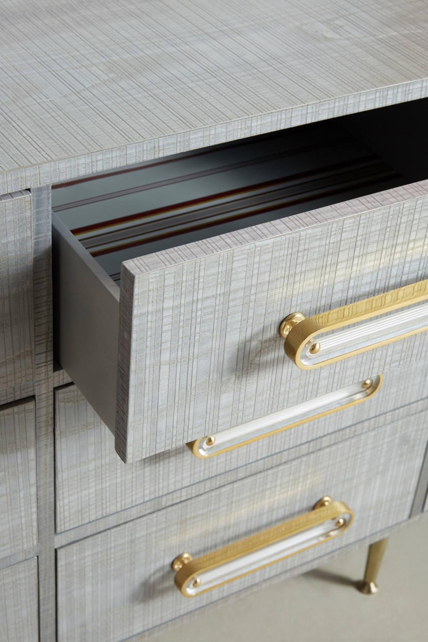 Odetta Nine Drawer Dresser In 2020 Dresser Drawers Drawers Cabinet Door Hardware