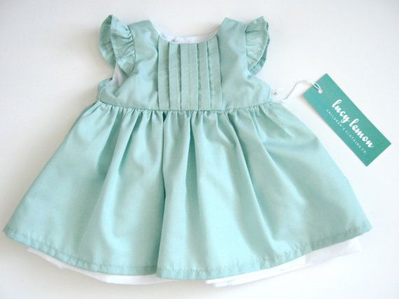 Baby Girl Dresses - Mint Baby Dress - Mint Green Baby Girl Dress ... 470e06a3f