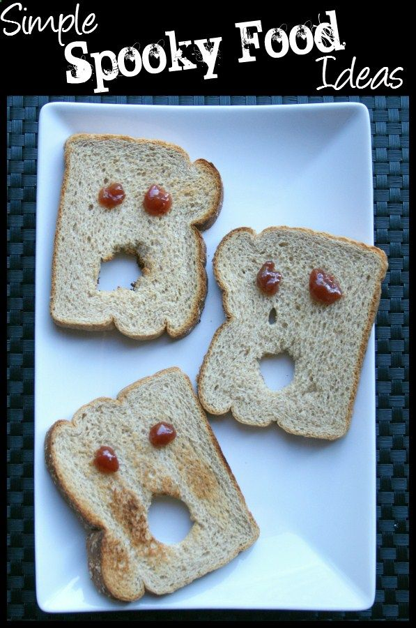So easy to do for Halloween morning! Simple Spooky Halloween Food - spooky halloween food ideas