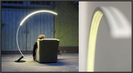 Troja Arc Lamp   Sleek, Minimalistic