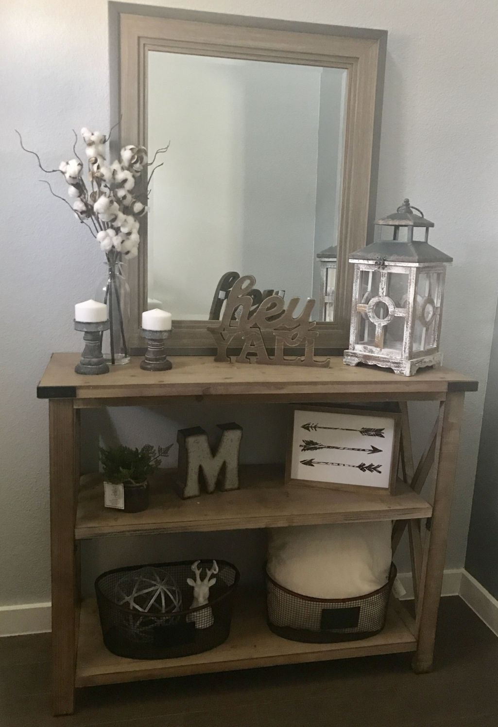 Farmhouse Decorating Style For Living Room And Kitchen Console Table Decorating Entry Table Decor Home Decor