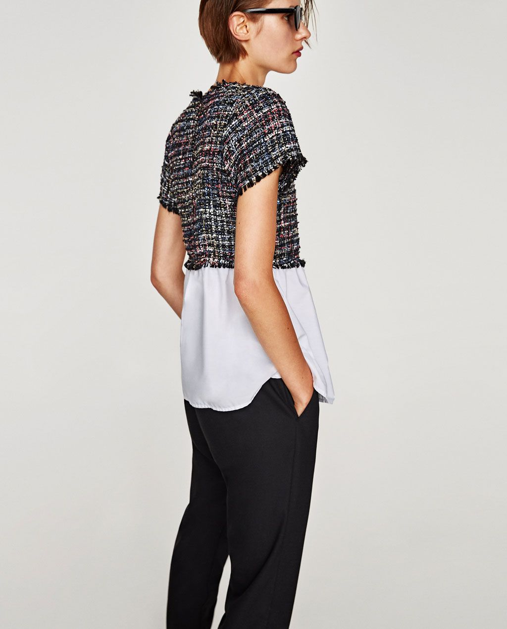 3ab9c79e52 CONTRASTING TWEED TOP-BEST SELLERS-WOMAN | ZARA United States | The ...