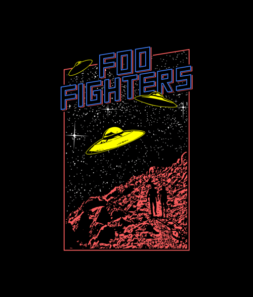 61c9da0fb043 Foo Fighters UFO T Shirt in 2019 | Band Tees | Custom tees, Shirts ...